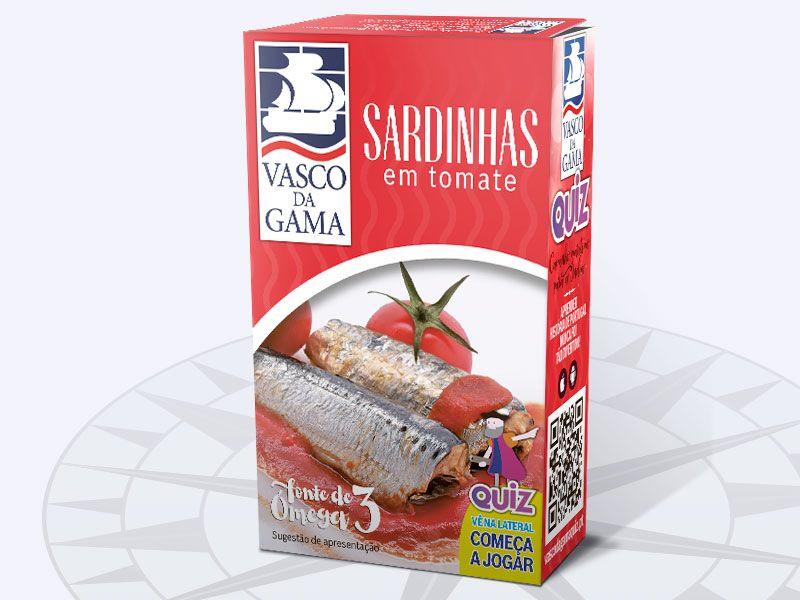Sardinhas em Tomate Vasco da Gama 120g 560c64d179238